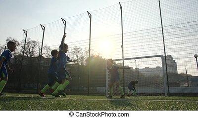 points, football, habile, but, joueur, jeune