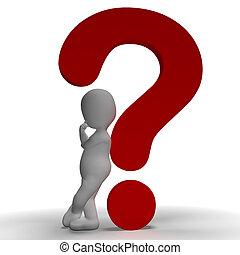 points interrogation, et, homme, projection, incertain, ou, incertain