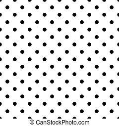 points, modèle, carreau, polka, noir