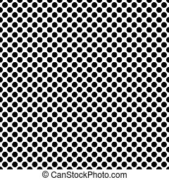 points, modèle, polka, seamless, texture, arrière-plan noir, blanc