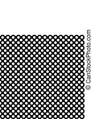 points, modèle, polka, vecteur, arrière-plan noir, carreau, blanc