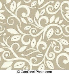 points, modèle, seamless, beige, floral, bronzage, ou, crème