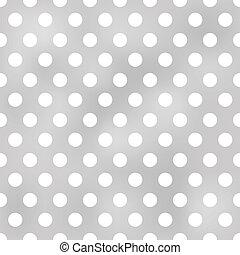 points, modèle, seamless, gris, polka