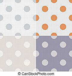 points, modèle, seamless, polka