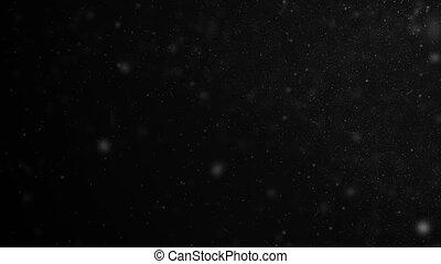 points, motion., lent, voler, seamless, bokeh., particules, gros plan, ultra, fait boucle, noir, 4k, fond, 3840x2160, poussière, flotter, air, animation, hd, 3d