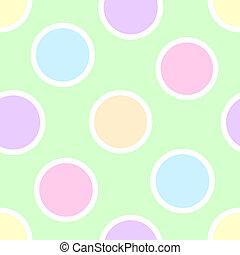 points, pastel, polka
