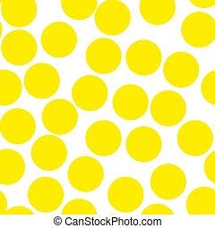 points, polka, seamless, jaune, aquarelle, texture