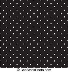 points, polka, vecteur, arrière-plan noir