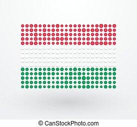 points, réconcilié, drapeau, petit, hongrie