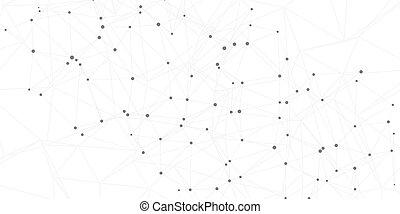 points, réseau, connecter, lignes, connexions, fond, 2704