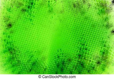 points, résumé, arrière-plan vert