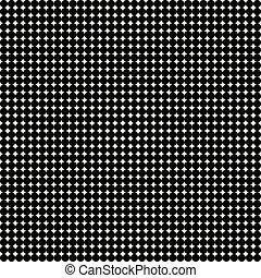 points, résumé, polka, arrière-plan noir, blanc