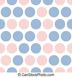 points, rose, modèle, bleu, vecteur, point