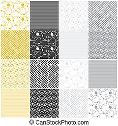 points, seamless, cercles, chevron, patterns:, géométrique, vagues, raies