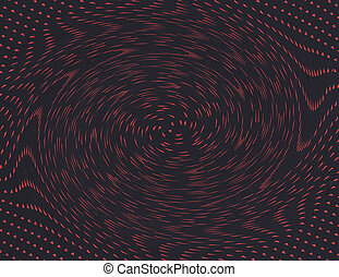 points, sombre, résumé, arrière-plan rouge