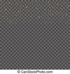 points, vector., or, résumé, stars., fond, ans, tomber