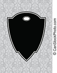 pointu, vecteur, noir, cadre