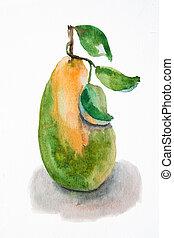 poire, illustration