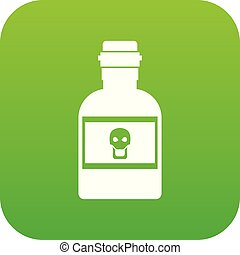 Poison bottle icon digital green