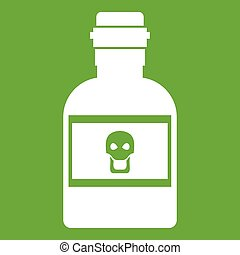 Poison bottle icon green