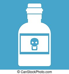 Poison bottle icon white