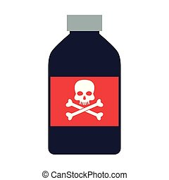 Poison bottle isolated