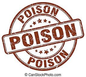poison brown grunge stamp