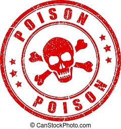 Poison danger stamp