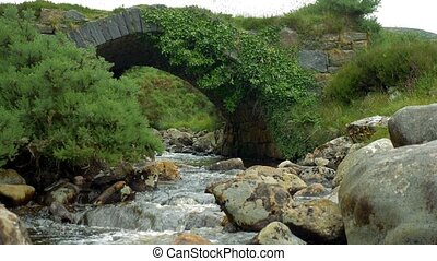 Poison Glen Bridge, Devlin River, County Donegal, Ireland -...