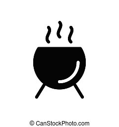 poison glyph flat icon