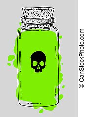 Poison hand drawn jar