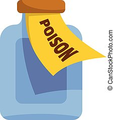 Poison icon, cartoon style
