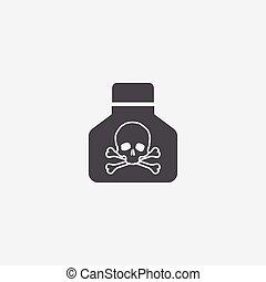 poison icon, on white background.