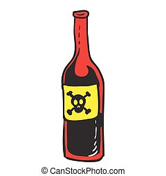 poison red bottle