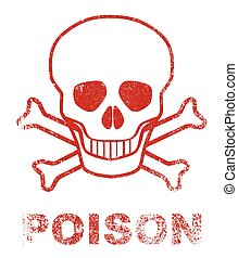 Poison Red Ink Stamp