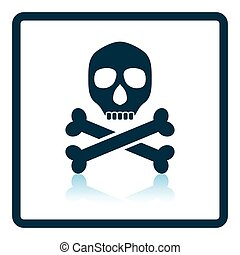 Poison sign icon. Shadow reflection design. Vector illustration.