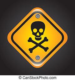 poison signal over black background vector illustration