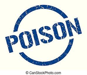 poison stamp - poison blue round stamp