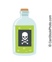poison vector illustration on white