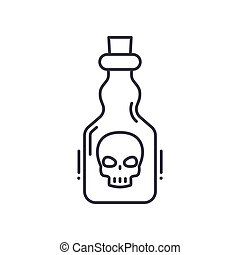 Poisoning icon, linear isolated illustration, thin line vector, web design sign, outline concept symbol with editable stroke on white background.