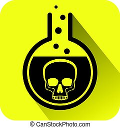 Poisonous Chemical warning sign.