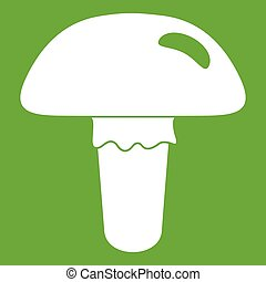 Poisonous mushroom icon green
