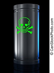 Poisonous substance - Container with toxic substance and...
