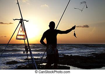 poisson attrapant