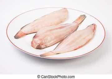 poisson cru, semelle