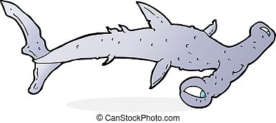 Mignon requin poisson marteau dessin anim mignon - Dessin requin marteau ...