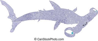 Poisson marteau dessin anim requin illustration - Dessin requin marteau ...