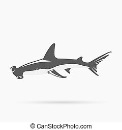 Poisson marteau dessin anim requin ic ne requin - Dessin requin marteau ...