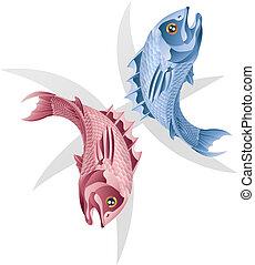 poissons, les, fish, signe étoile