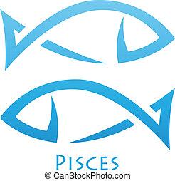 poissons, simplistic, zodiaque, signe étoile